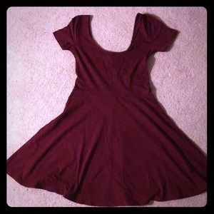 Simple burgundy dress